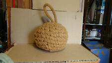 Beautiful Antique Boat Bumper Vintage Woven Rope Wood Boat / Folk Art