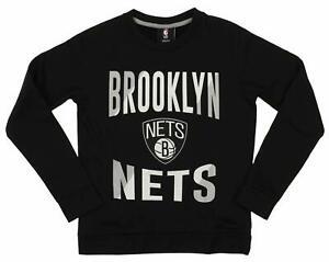 Outerstuff NBA Youth/Kids Brooklyn Nets Performance Fleece Crew Neck Sweatshirt