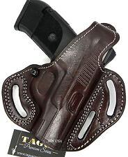 TAGUA PREMIUM Right Hand OWB Thumb Break Belt Holster Brown Leather - Choose Gun