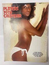 Rare Players Magazine 1978 Calendar  Black Porn