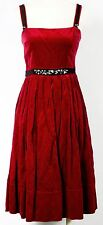 BCBG MAX AZRIA ROUGE RED VELVET SQUARE NECK HOLIDAY PARTY DRESS SIZE 4 $400