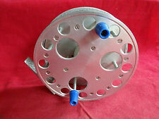 """A VERY NICE VINTAGE 5"""" ALLOY CENTREPIN REEL RUNNING ON BEARINGS"""