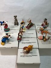 Disney Christmas Magic Grolier Lot of 10 Ornaments w/ Boxes Christmas Ornaments