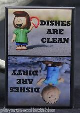 """Peppermint Patty & Pigpen Clean/Dirty Dishwasher Magnet 2""""x3"""". Peanuts"""