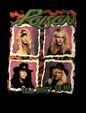 POISON cd lgo TALK DIRTY TO ME Official SHIRT XL New look what cat dragged in