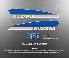 SUZUKI 1974 TS250 TANK COVER DECALS GRAPHICS LIKE NOS