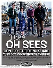 THEE OH SEES 2013 PORTLAND CONCERT TOUR POSTER - Alternative/Indie Rock