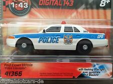 "Carrera Digital 143 41366 FORD CROWN VICTORIA ""POLICE INTERCEPTOR"" BLINKLICHT"