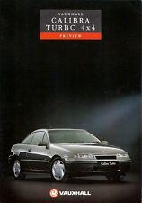 Vauxhall Calibra Turbo 4x4 1991 UK Market Preview Leaflet Sales Brochure