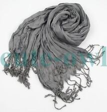 men's Grey CLASSIC VOGUE FANCY DESIGN Cotton silk scarf