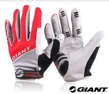 Giant Cycling Bicycle Bike Blue Full Finger Antiskid Silicone GEL Gloves Black L