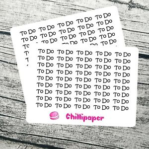 To Do, Bujo stickers, Planner Stickers, simple stickers, Bullet journal #1137