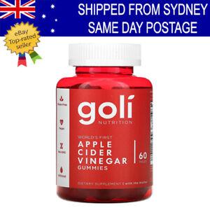 Goli ORGANIC APPLE CIDER VINEGAR Gummy Vitamins 60 Pcs WORLD FIRST ACV GUMMIES!