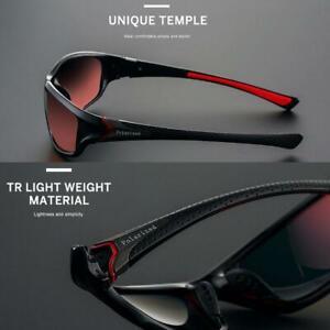 Men Sport Polarized Sunglasses Squares Outdoor Driving Fishing Glasses