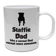 Staffie/Papa Cadeau Mug-STAFFIE Papa-Staffordshire Bull Terrier/Father's Day