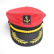 Adults Captain Hat Sea Marine Peaked Cap Sailor Fancy Dress Costume Accessory