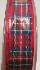 BERISFORDS 16MM 25mm TARTAN RIBBON -ROYAL STEWART DRESS STEWART MACKENZIE GORDON