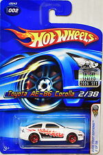 HOT WHEELS 2006 FIRST EDITIONS TOYOTA AE-86 COROLLA #002 WHITE FACTORY SEALED