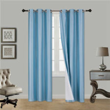 INSULATED FOAM LINED THERMAL BLACKOUT GROMMET WINDOW CURTAIN 1PC LIGHT BLUE