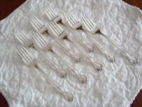 Wm Rogers Mfg Co. Silver Plate Salad Forks Eight (8) MAGNOLIA/ INSPIRATION 1951