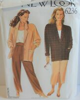 New Look 6236 Sewing Pattern Jacket Pants Skirt Sizes 8-18 Factory Folded Uncut