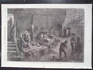 Sheffield Steel Manufacturing Fork Grinders 1866 Illustrated London News