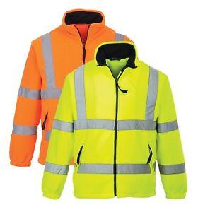 Portwest Hi Vis Mesh Lined Fleece Safety Work Wear Jacket Winter Cold Wind F300