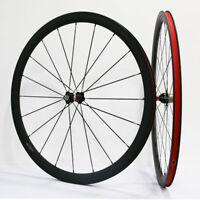 Carbon 38mm Road Bike Wheelset Novatec A271/F372 Hub Clincher 3K Matte