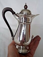 VICTORIAN LONDON 1901 SOLID / STERLING SILVER HOT CHOCOLATE POT / JUG