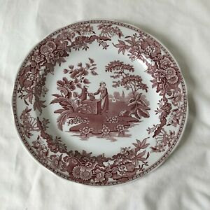 SPODE ARCHIVE COLLECTION GIRL AT WELL 10 inch Dinner Plate Red and White NEW
