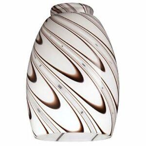 Westinghouse Lighting Corp 8141000 2-1/4-Inch Glass Shade, Chocolate
