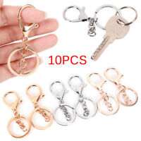 10PCS DIY Key Rings Key Chain Jewelry Findings Lobster Clasp Keyring Making YH