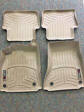 WeatherTech Floor Mat FloorLiner for Audi A4/S4 - 2008-2016- 1st & 2nd Row Tan