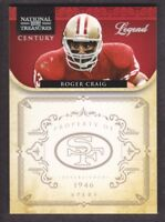 2011 Playoff National Treasures Century Silver #189 Roger Craig 04/25 49ers