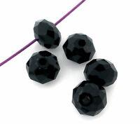 L/P: Schwarz Glasperlen Schliffperlen Facettiert Beads BICONE Rhombe 4mm