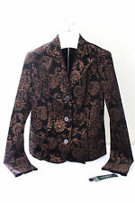 NWT LAUREN Ralph Lauren Velvet Black Gold Brocade Blazer Dress Jacket 8 $199