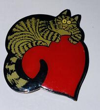B. Kliban Cat on Heart Vtg Refrigerator Fridge Metal Magnet