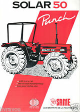 ▬►Prospectus Tracteur SAME SOLAR 50 Tractor Traktor No Massey Ferguson Fiat
