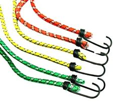 6 BUNGEE STRAPS CORDS SET WITH HOOKS ELASTICATED ROPE CORD CAR BIKE LUGGAGE