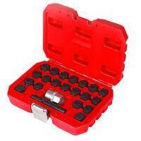 NEW 22pcs Car Wheel Nut Removal Anti-Theft Lock Keys Screws Socket Kit For AUDI