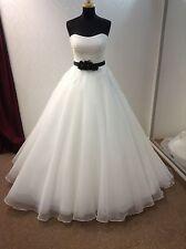 Hollywood Dreams Designer abito da sposa CLAUDINE Nero Cintura rimovibile-Taglia 12