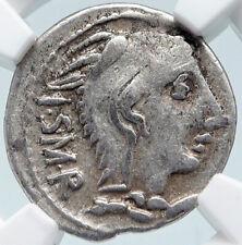 New ListingRoman Republic 105Bc Rome Genuine Ancient Silver Coin Juno Cult Bull Ngc i85489