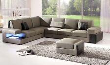 Modern Ecksofa Couch Polster Sitz Leder Design Sofa Garnitur Wohnlandschaft  Neu