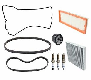 Smart ForTwo 2008-2015 Air Cabin Fuel Oil Filters Serpentine Belts Tune Up KIT
