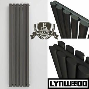 Rads UK Designer Radiator Oval Panel Column Central Heating Vertical Anthracite
