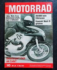 Das Motorrad 10/69 Kawasaki 500 Mach III, GP Österreich 1969, Der Zweitakter