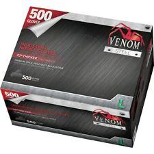 Medline Venom Steel Industrial Nitrile Gloves, 6 mil,500 Gloves/Box, Size L, Blk