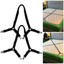 Crisscross Bed Sheet Mattress Holder Fastener Grippers Clips Suspender Straps UK