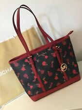 Michael Kors Barcelona Large Leather Tote Bag Scarlett Red BNWTS Limited Edition
