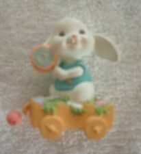 Hallmark 1989 Merry Miniatures - Bunny In Wagon - New